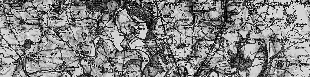 Old map of Alkmund Park Pool in 1899