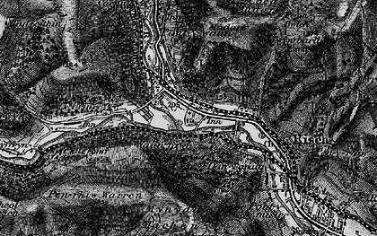 Old map of Crosskeys in 1897