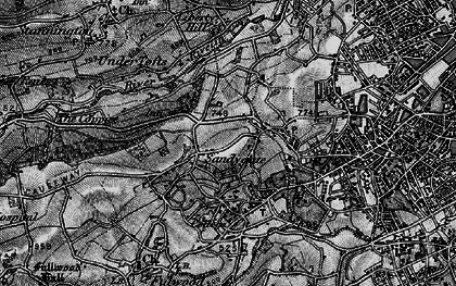 Old map of Crosspool in 1896