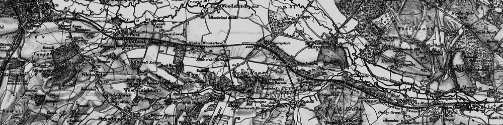 Old map of Tinker's Barrow in 1897