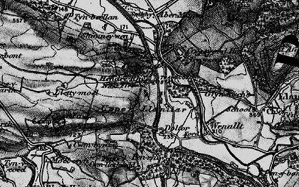 Old map of Crosswood in 1898