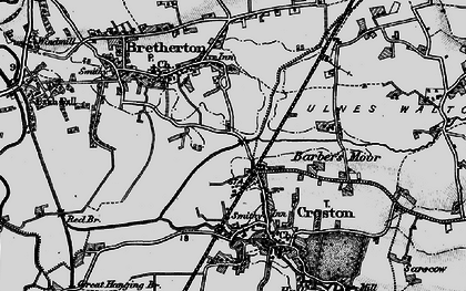 Old map of Croston in 1896