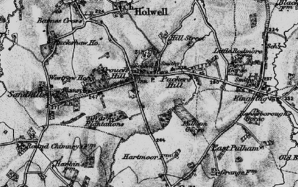 Old map of Westrow in 1898