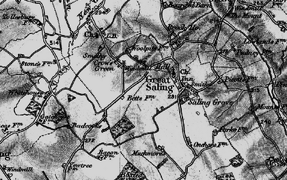 Old map of Woolpits in 1896