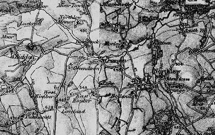 Old map of Worth in 1895