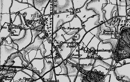 Old map of Wroxham Barns Craft Centre in 1898