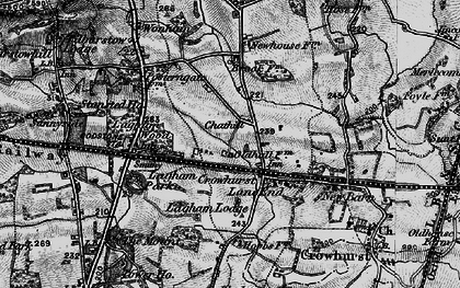 Old map of Crowhurst Lane End in 1895