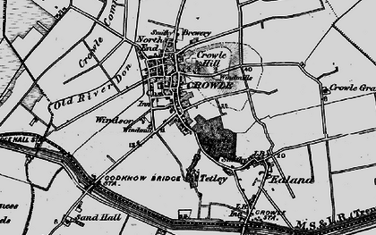 Old map of Crowle in 1895