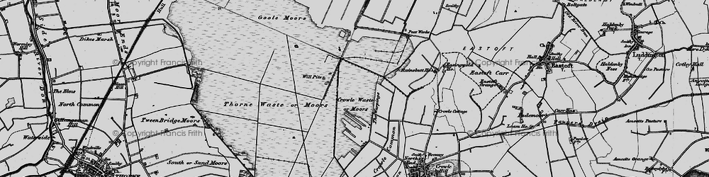 Old map of Will Pitts in 1895