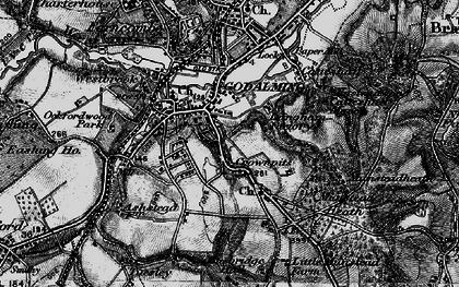 Old map of Crownpits in 1896