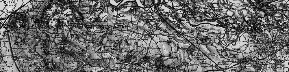 Old map of Crowton in 1896