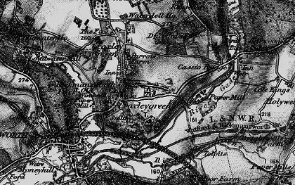 Old map of Croxley Green in 1896