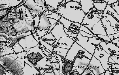 Old map of Croxteth in 1896