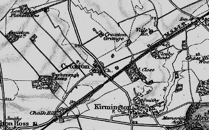 Old map of Yarborough Camp in 1895