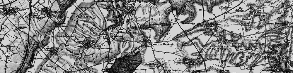 Old map of Tipping's Lodge in 1899