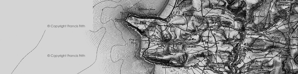 Old map of Whiting Hole in 1897
