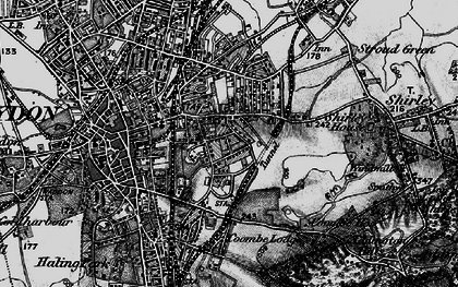 Old map of Croydon in 1895