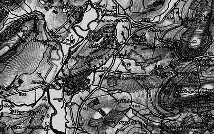 Old map of Crugybar in 1898