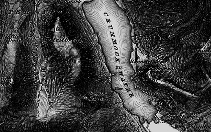 Old map of Ling Crags in 1897