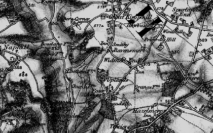 Old map of Cryers Hill in 1895