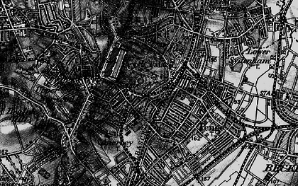Old map of Crystal Palace in 1895
