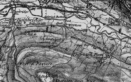 Old map of Addlebrough in 1897