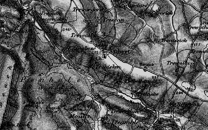 Old map of Cubert in 1895