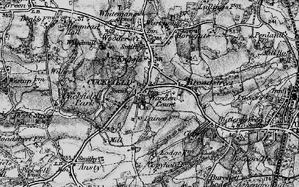 Old map of Cuckfield in 1895