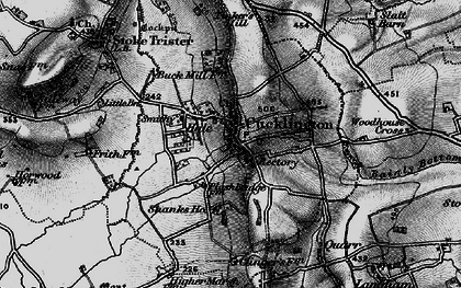 Old map of Cucklington in 1898
