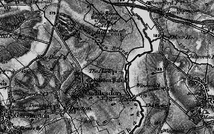 Old map of Cuddesdon in 1895