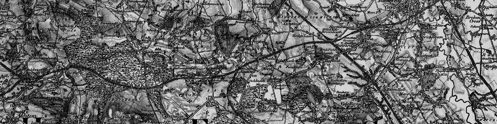 Old map of Cuddington in 1896
