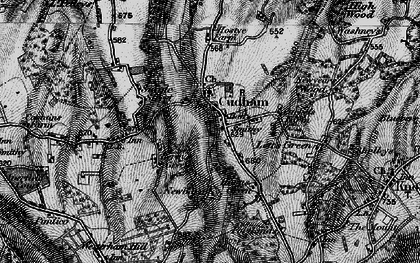 Old map of Cudham in 1895