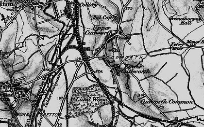 Old map of Cudworth in 1896