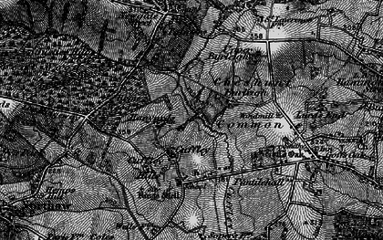 Old map of Cuffley in 1896