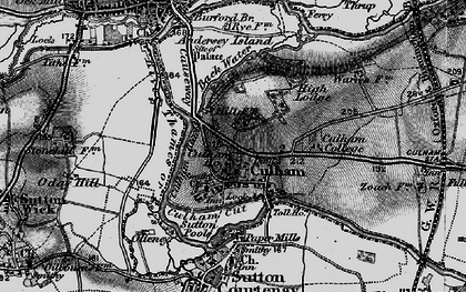 Old map of Culham in 1895