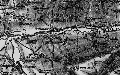 Old map of Culmstock in 1898