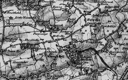 Old map of Withy Trees in 1896