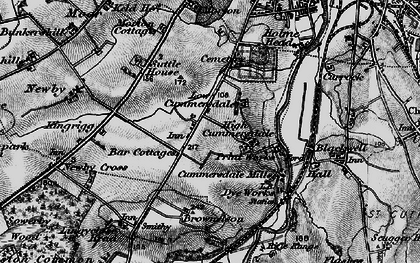Old map of Cummersdale in 1897