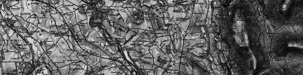 Old map of Whitehead Hill in 1897