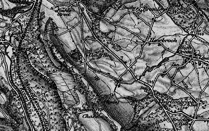 Old map of Wharncliffe Chase in 1896