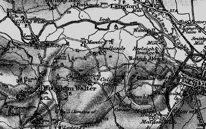Old map of Wood Corner in 1896