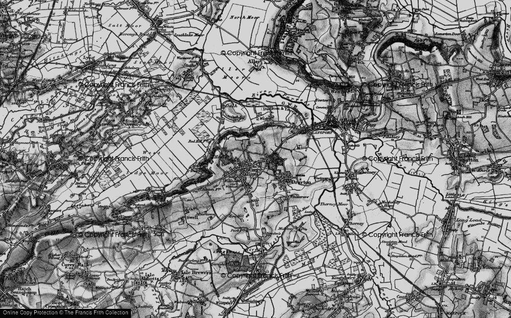 Old Map of Curry Rivel, 1898 in 1898
