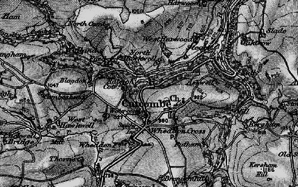 Old map of Ashwell in 1898