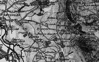 Old map of Cwm in 1898