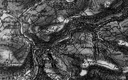 Old map of Afan Argoed Forest Park in 1898