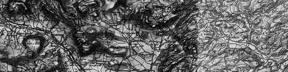 Old map of Alltyffynnon in 1899