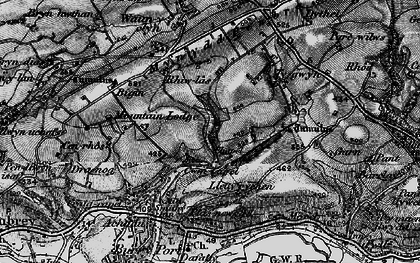 Old map of Cwm Capel in 1896
