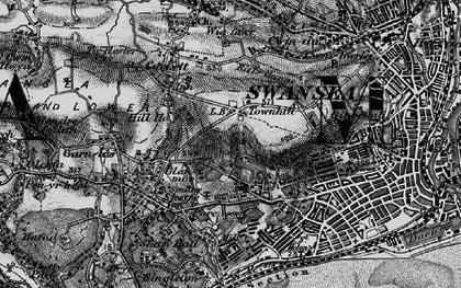Old map of Cwm Gwyn in 1897