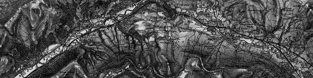 Old map of Y Foel Chwern in 1898