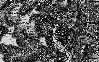 Old map of Alltwineu in 1898